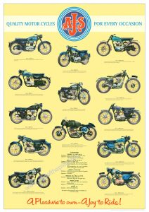 1960 AJS Motorcycle Poster