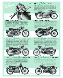 1956 Velocette range poster