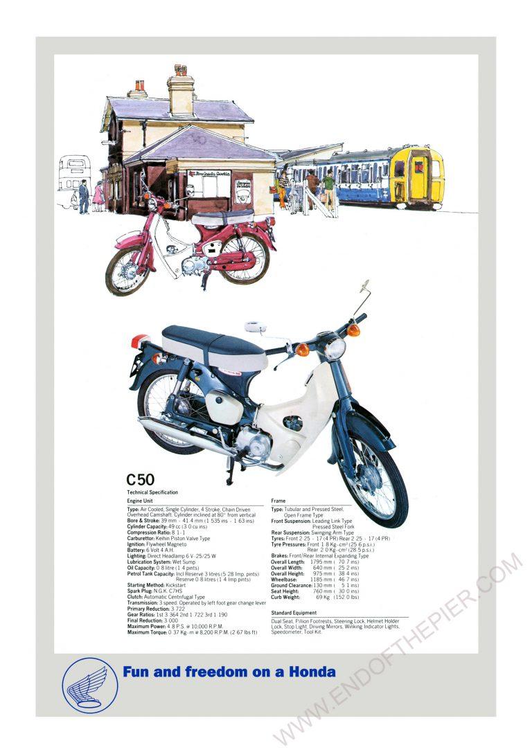 Honda C50 Poster