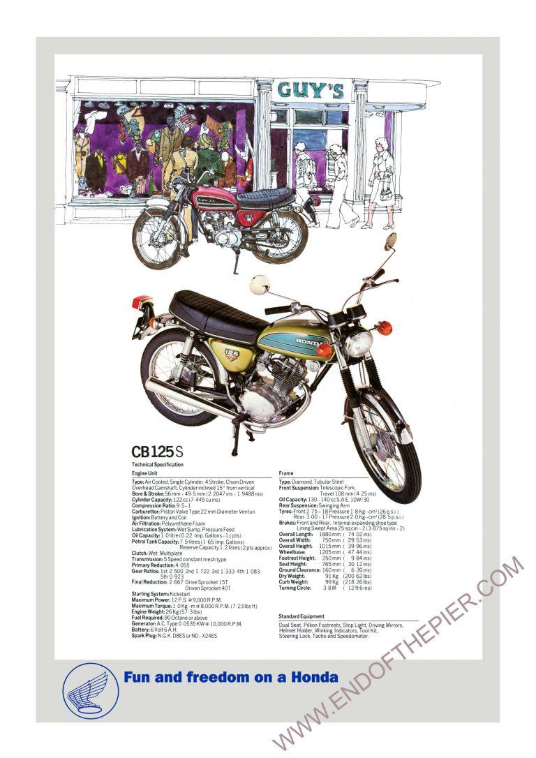 Honda CB125S Poster