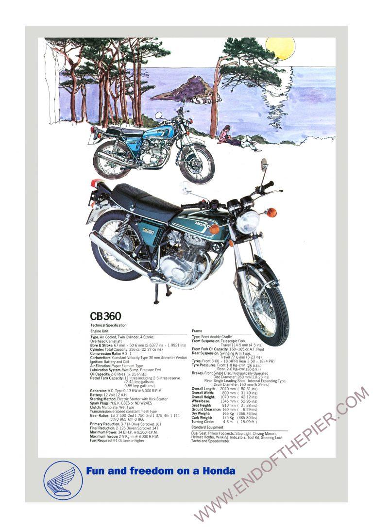 Honda CB360 Poster