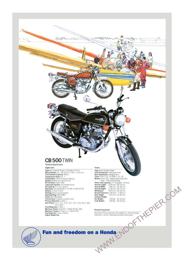 Honda CB500 twin poster