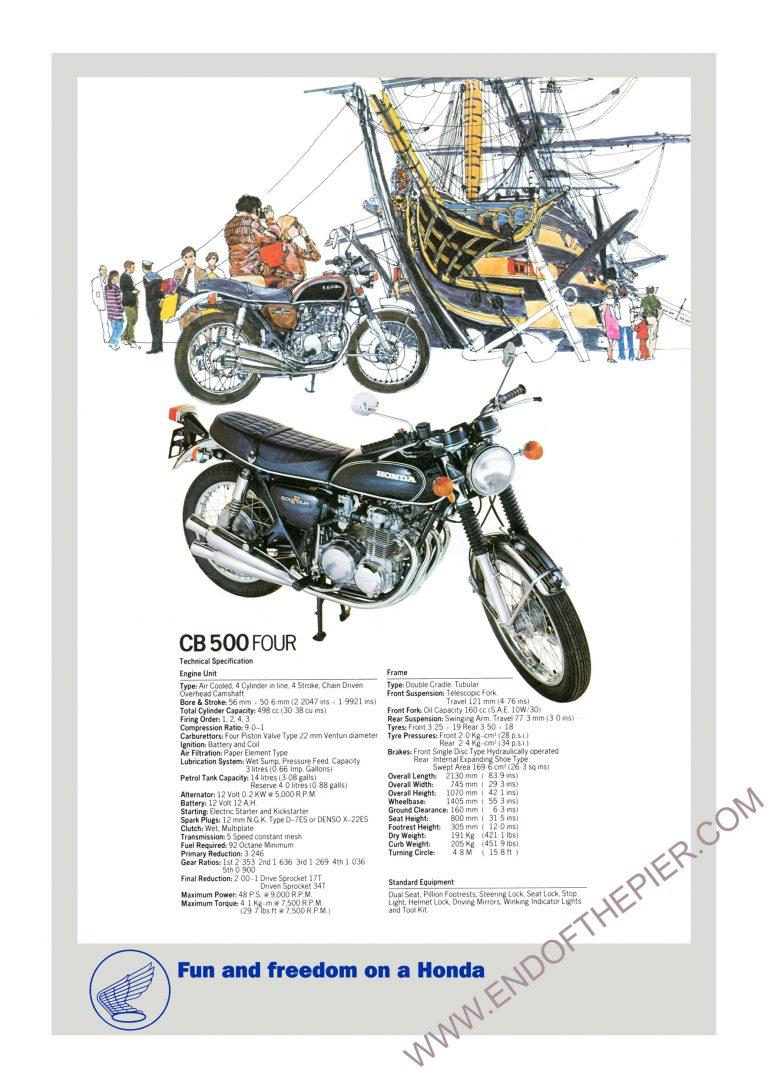 Honda CB500 four poster