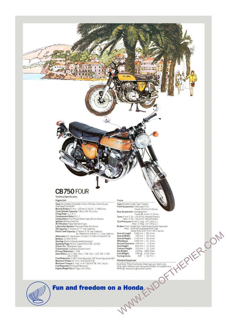 Honda CB750 four poster