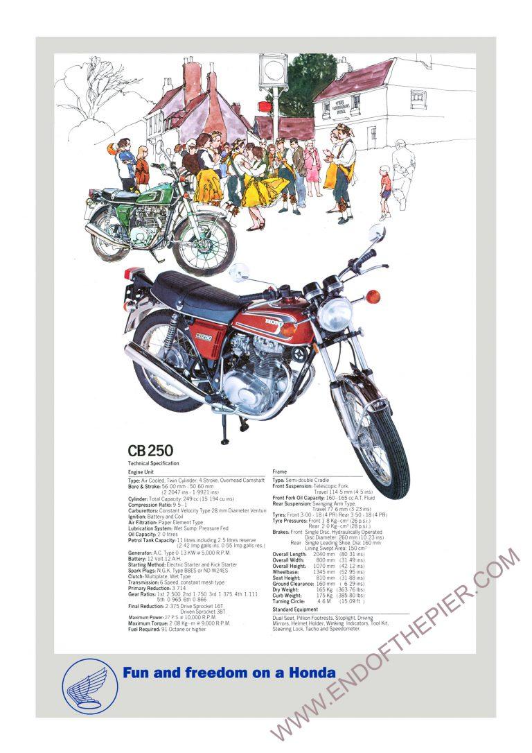Honda CB250 Poster