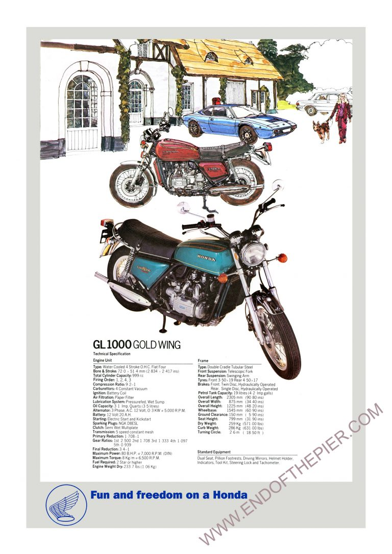 Honda GL1000 Goldwing poster