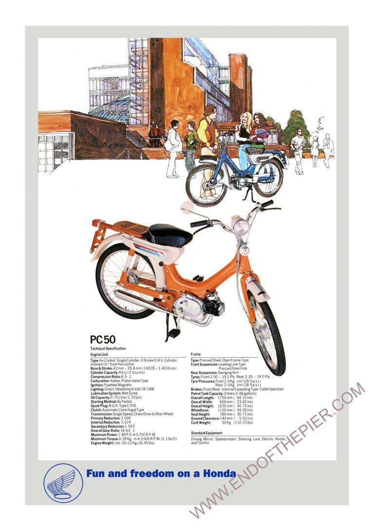 Honda PC50 Poster
