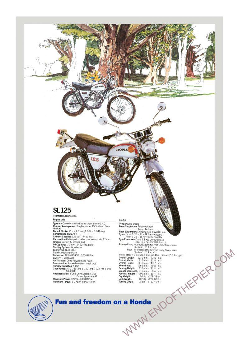 Honda SL125 Poster
