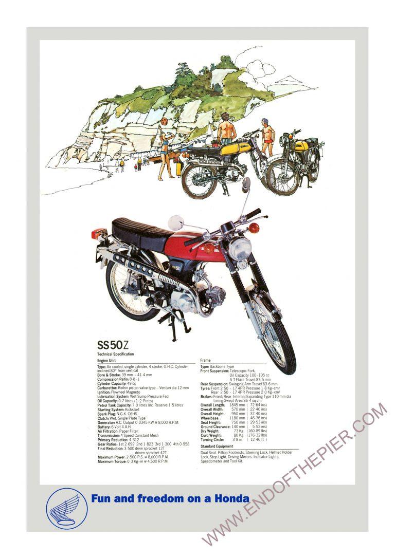 Honda SS50Z Poster