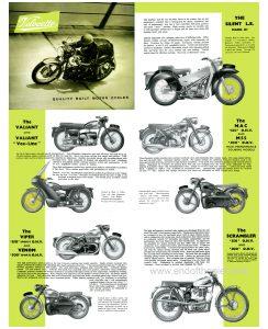 1958 Velocette range poster