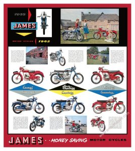 James Motorcycle Poster