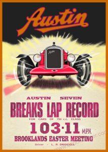 Austin Seven Brooklands Poster