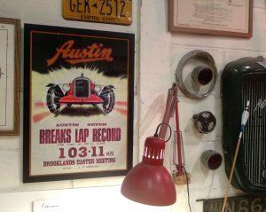 Framed Austin Seven Brooklands Poster